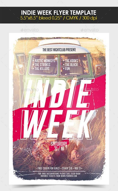 GraphicRiver Indie Week Flyer Template