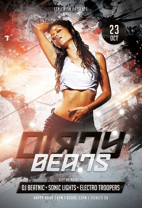 GraphicRiver Dirty Beats Flyer