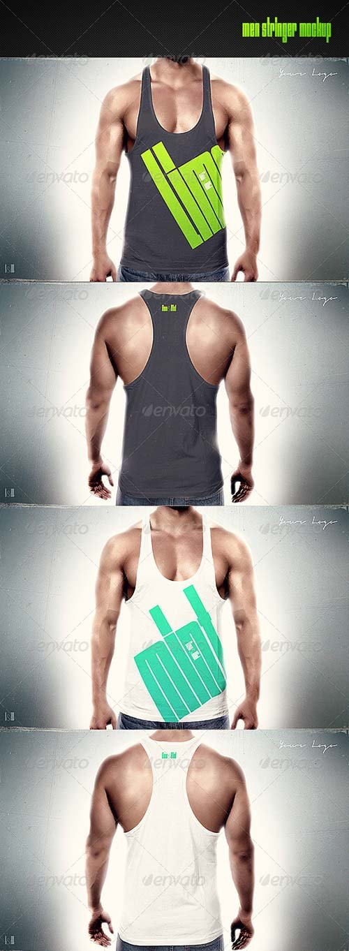 GraphicRiver Men Stringer Mock-up