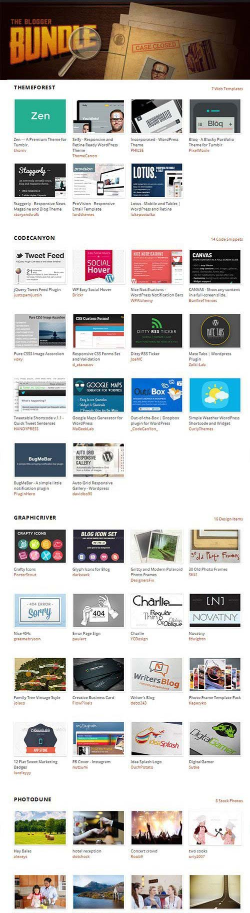 Envato The Blogger Bundle
