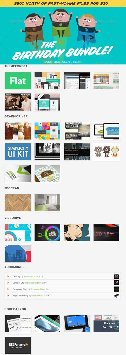 Envato Birthday Bundle 2013
