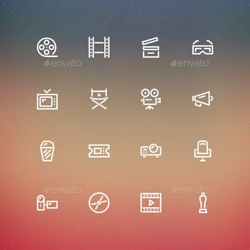 GraphicRiver Cinema Icons