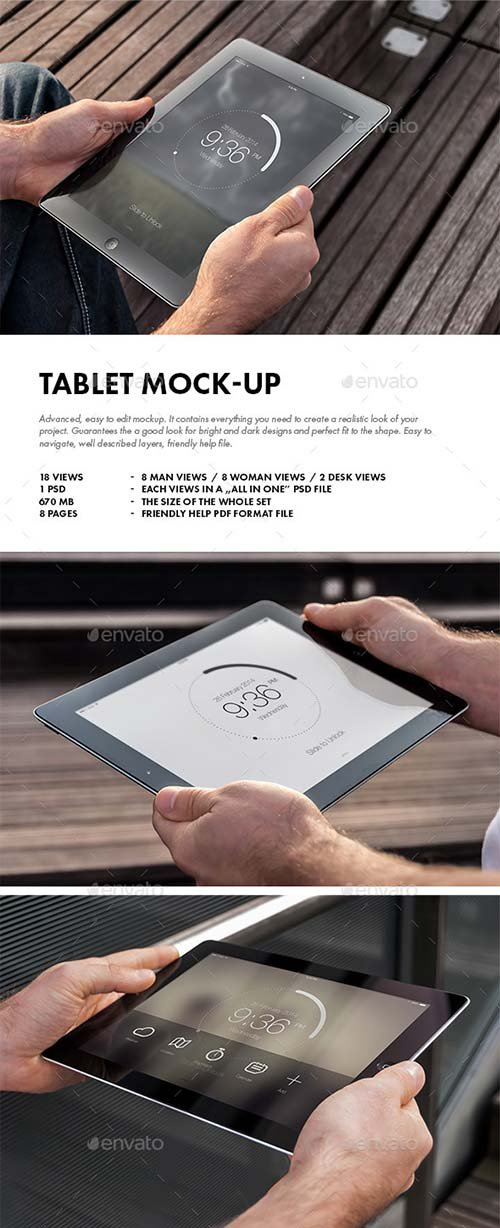 GraphicRiver Tablet Mock-up