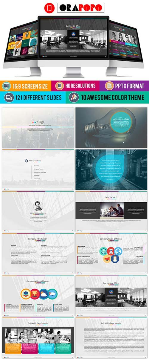 GraphicRiver Eluga Business PowerPoint Slide