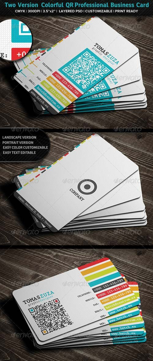 GraphicRiver Two Version Colorful QR Professional Business