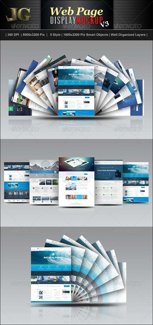 GraphicRiver Website Display Mockup V3