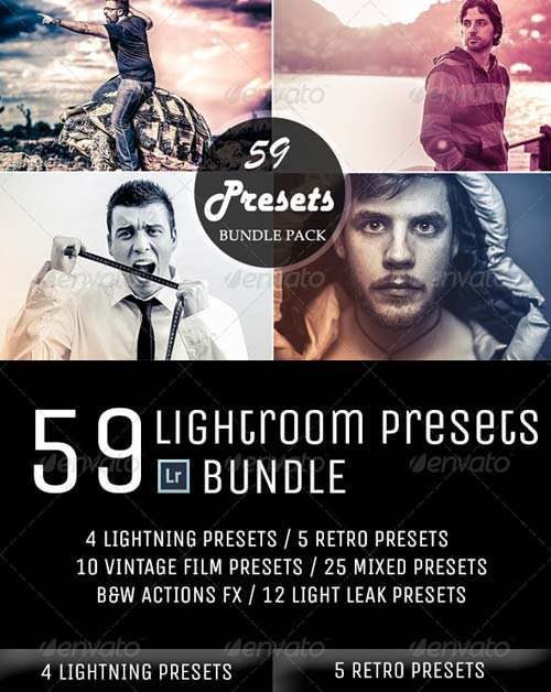 GraphicRiver 59 Lightroom Presets Bundle