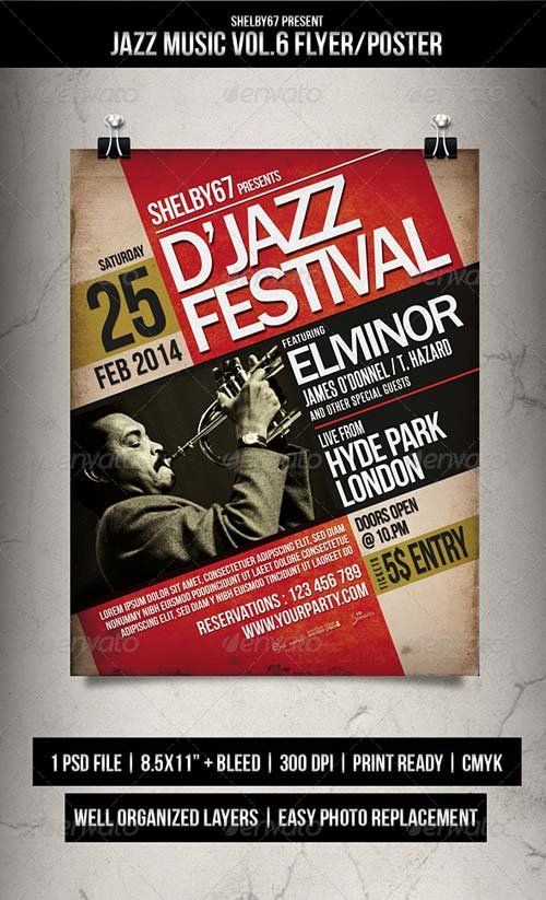 GraphicRiver Jazz Music Flyer / Poster Vol.6