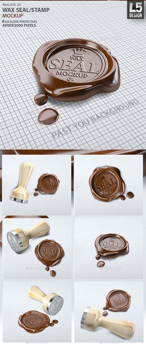 GraphicRiver Wax Seal Stamp Mock-up