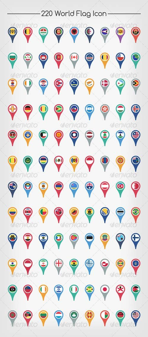 GraphicRiver Flags of The World