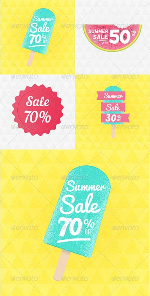 GraphicRiver Summer Sale Badges Set