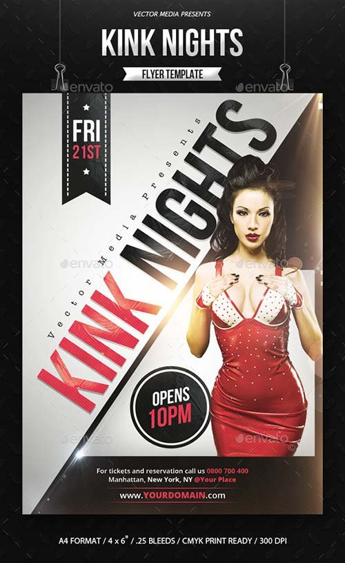 GraphicRiver Kink Nights - Flyer