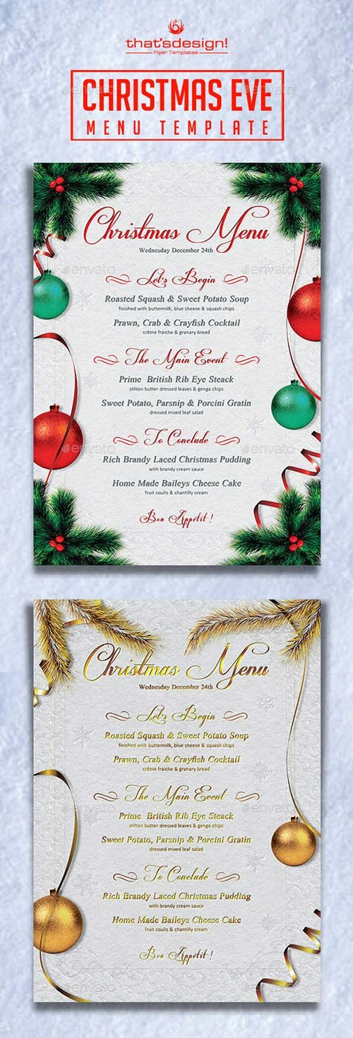 GraphicRiver Christmas Eve Menu Template