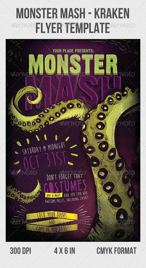 GraphicRiver Kraken Party Flyer