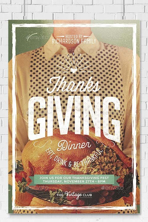 GraphicRiver Thanksgiving Day Flyer Template