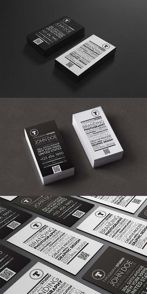 CreativeMarket Typography Studio business card