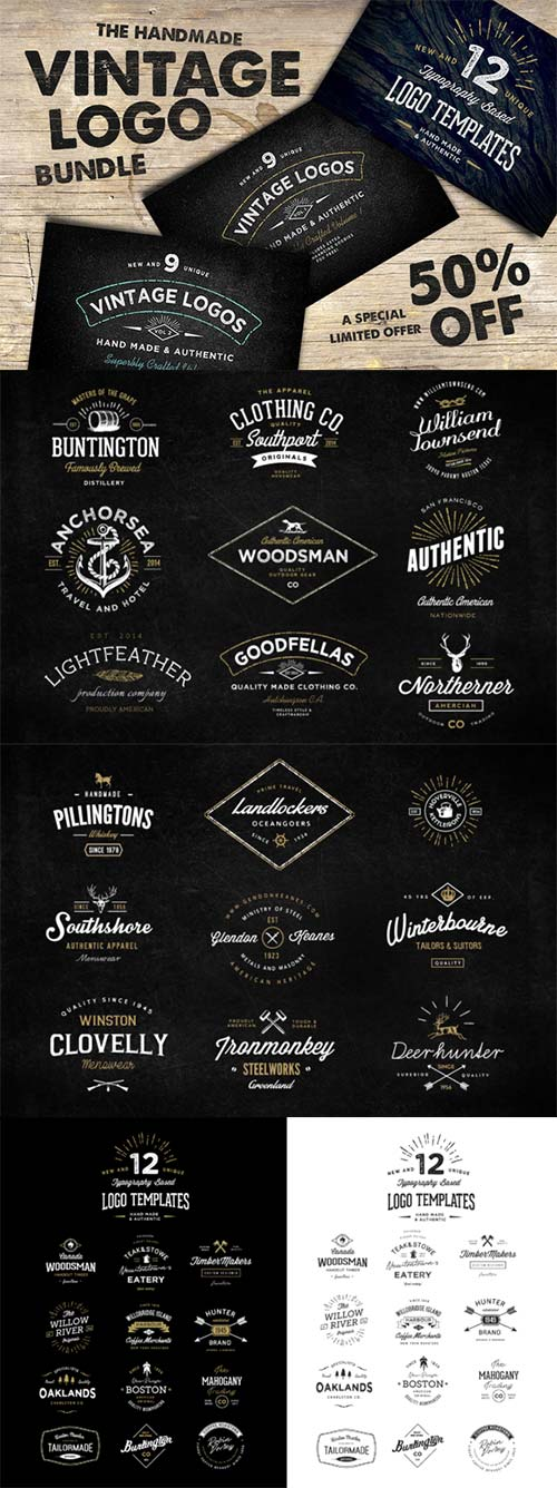 CreativeMarket The Handmade Vintage Logo Bundle