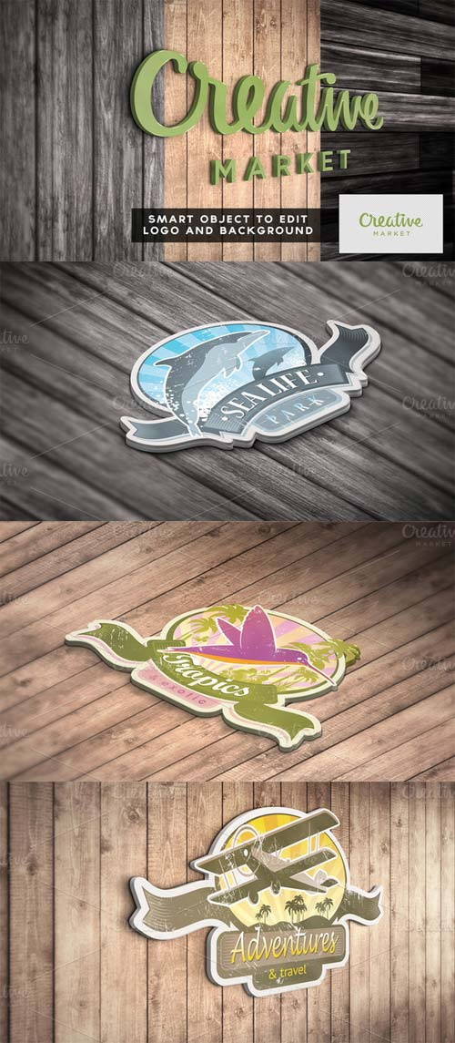 CreativeMarket 3D Logo Mock Up