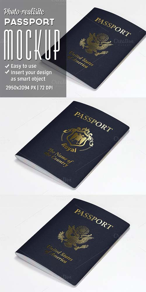 CreativeMarket Passport Mockup