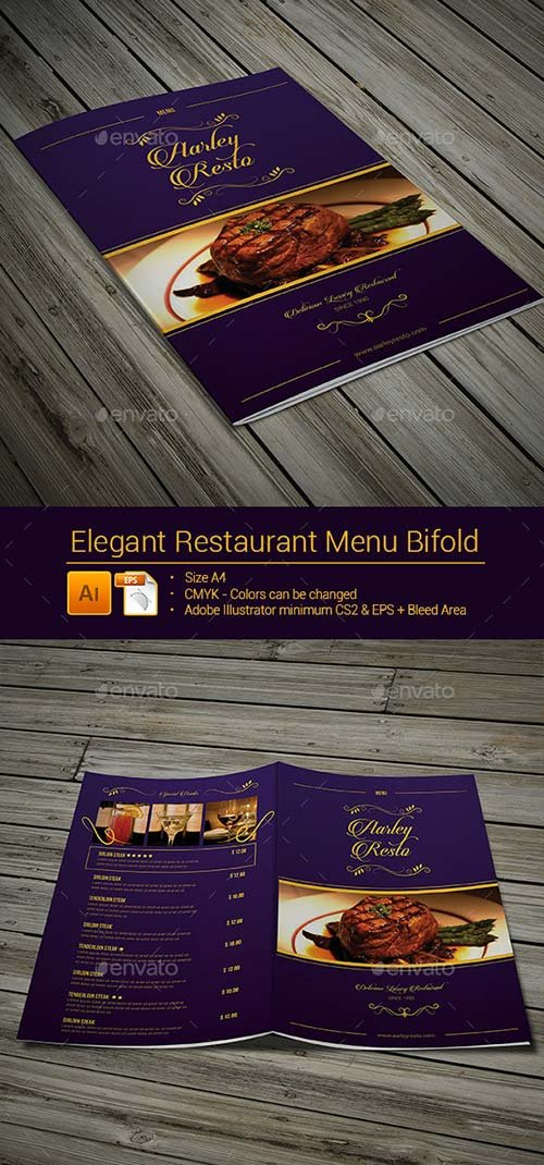 GraphicRiver Elegant Restaurant Menu Bifold