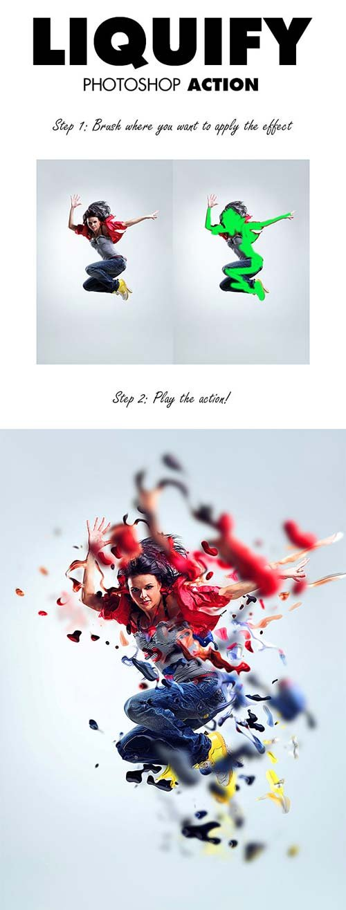 GraphicRiver Liquify Photoshop Action