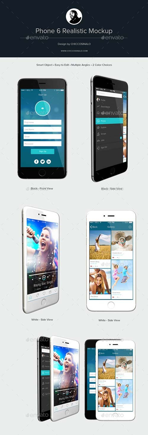 GraphicRiver Phone 6 Realistic Mockup