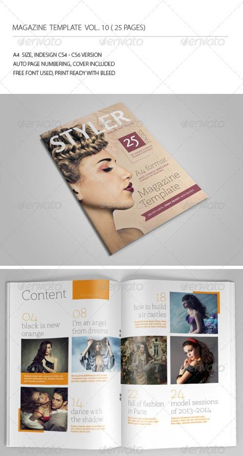 GraphicRiver 25 Pages Magazine Template Vol10