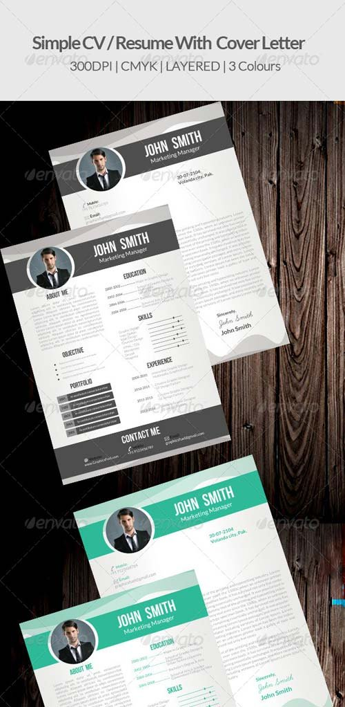GraphicRiver Simple CV/ Resume & Cover Letter