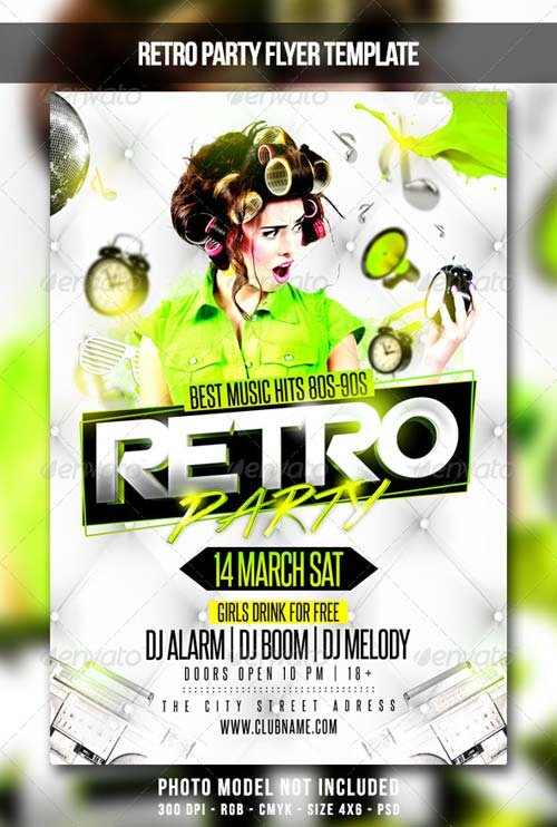 GraphicRiver Retro Party Flyer 6901684