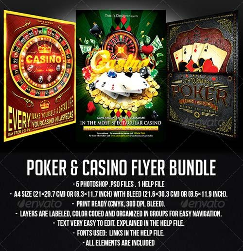 GraphicRiver Poker and Casino Flyer Bundle