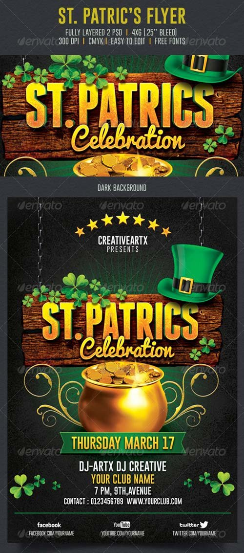 GraphicRiver St. Patrick's Celebration Flyer