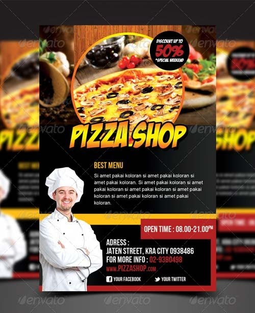 GraphicRiver Pizza Shop Flyer