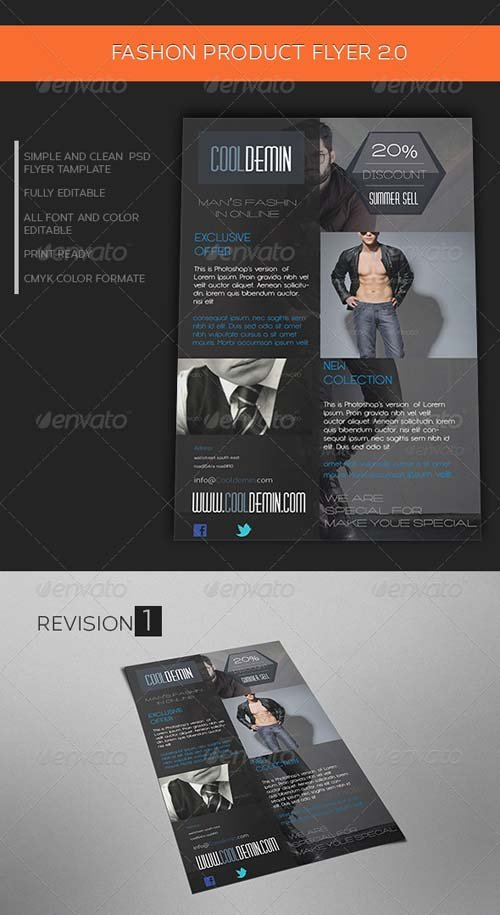 GraphicRiver Man's Fashion Product Flyer Template 2.0