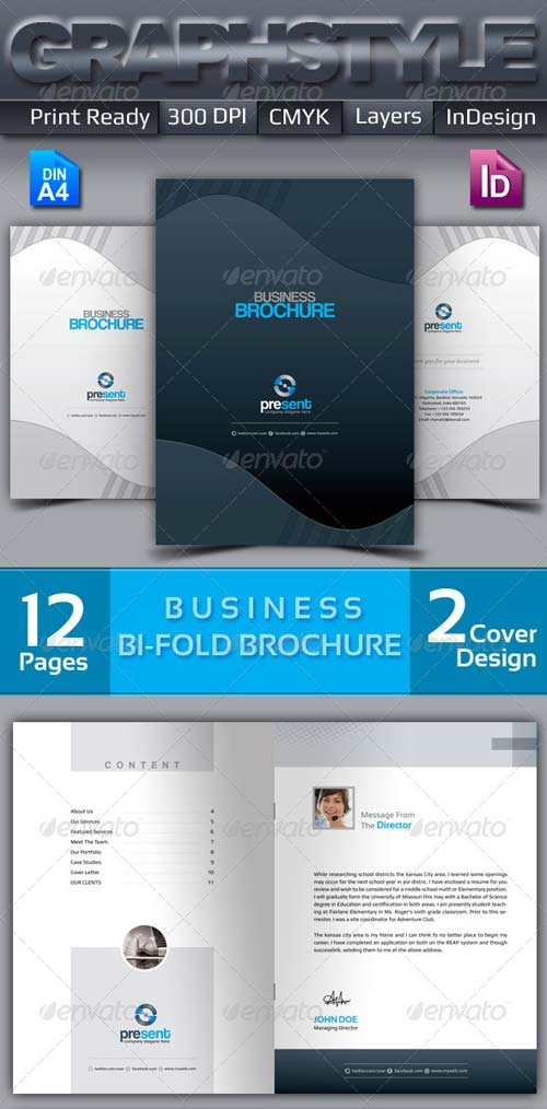 GraphicRiver Present_Bi-fold corporate business brochure