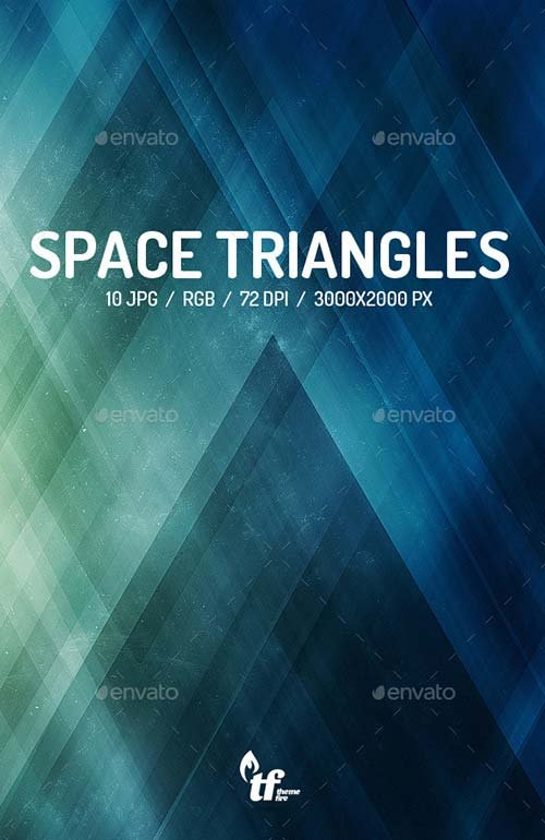 GraphicRiver Space Triangles Backgrounds