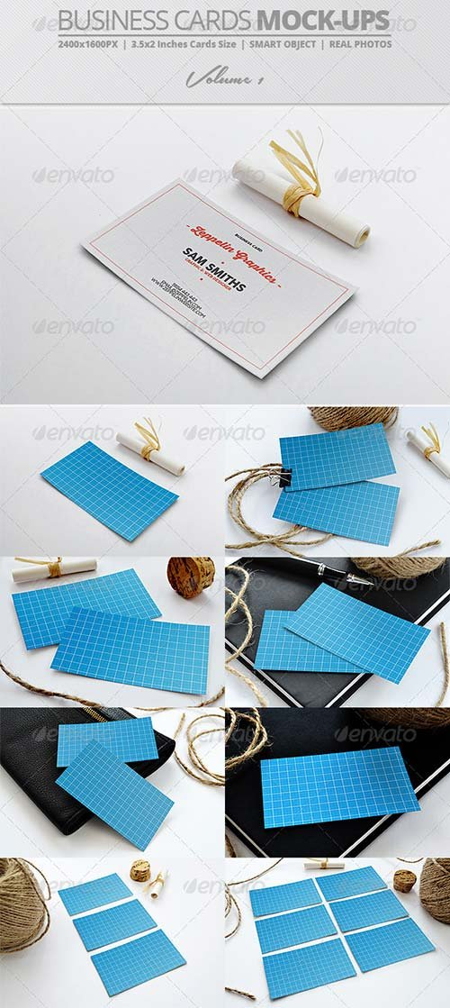 GraphicRiver Business Card Mock-ups Vol.1