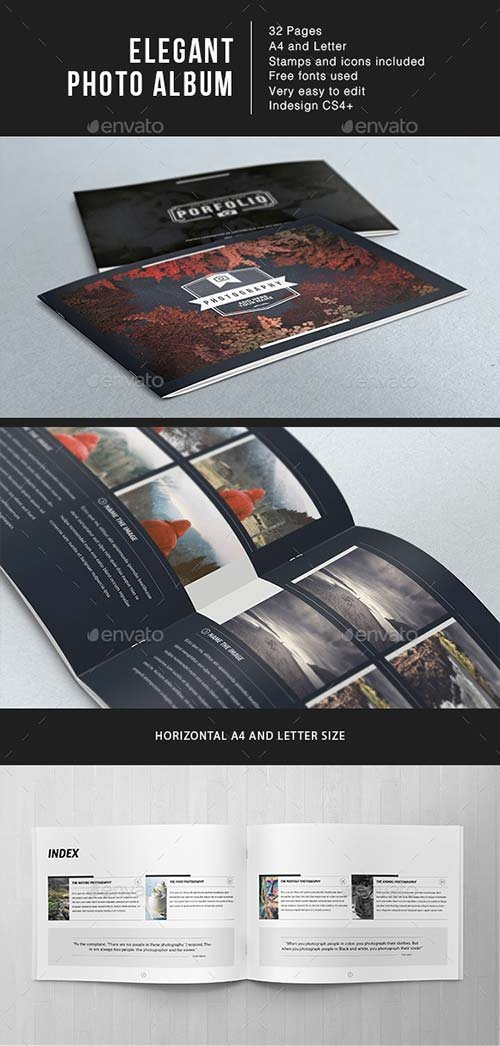 GraphicRiver Elegant Photo Album A4 + Letter