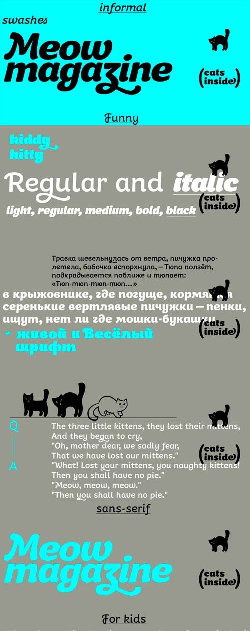 Kiddy Kitty Font Family