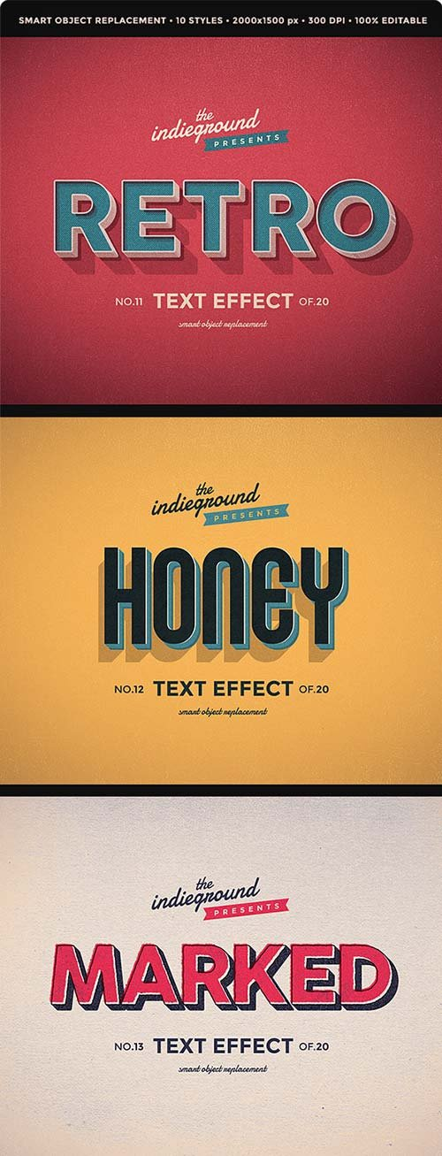 GraphicRiver Retro Vintage Text Effects Vol. 2