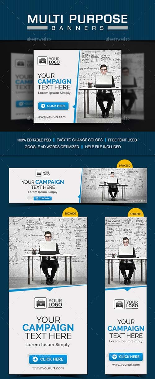 GraphicRiver Multi Purpose Banner Set