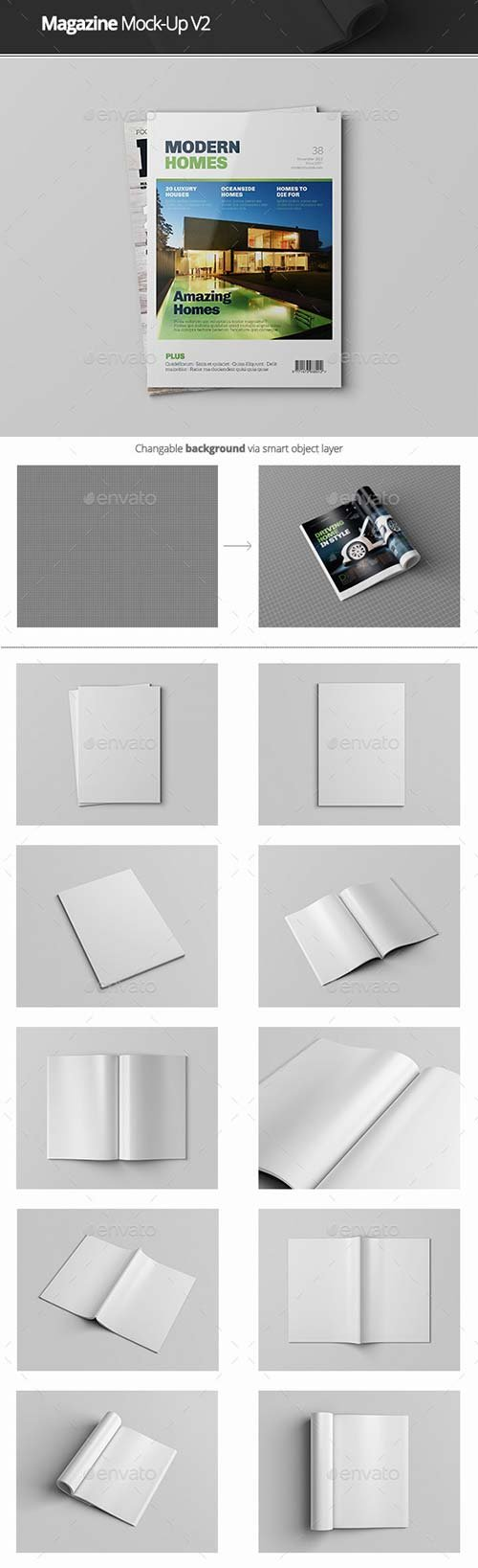 GraphicRiver Magazine Mock-Up V2