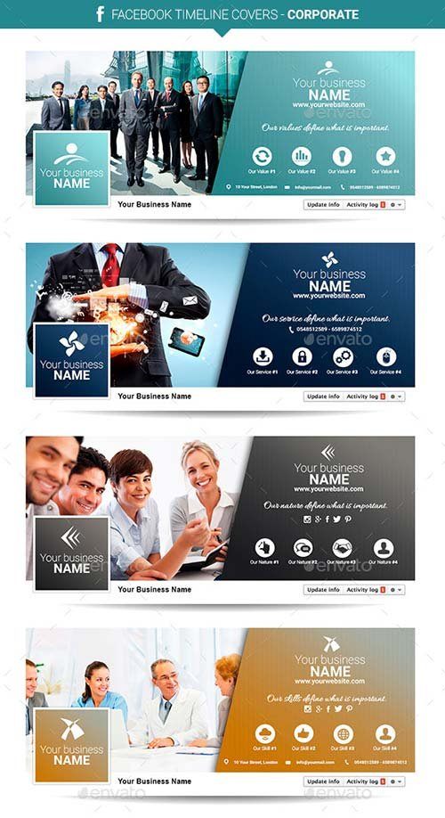 GraphicRiver Facebook Timeline Covers - Corporate