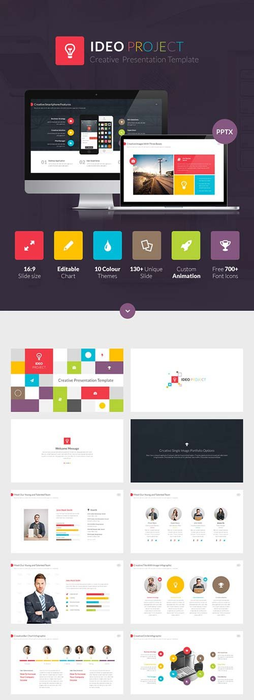 GraphicRiver Ideo Powerpoint Presentation Template