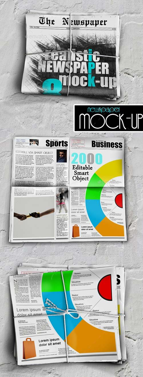GraphicRiver Newspaper Mock-up 9340863