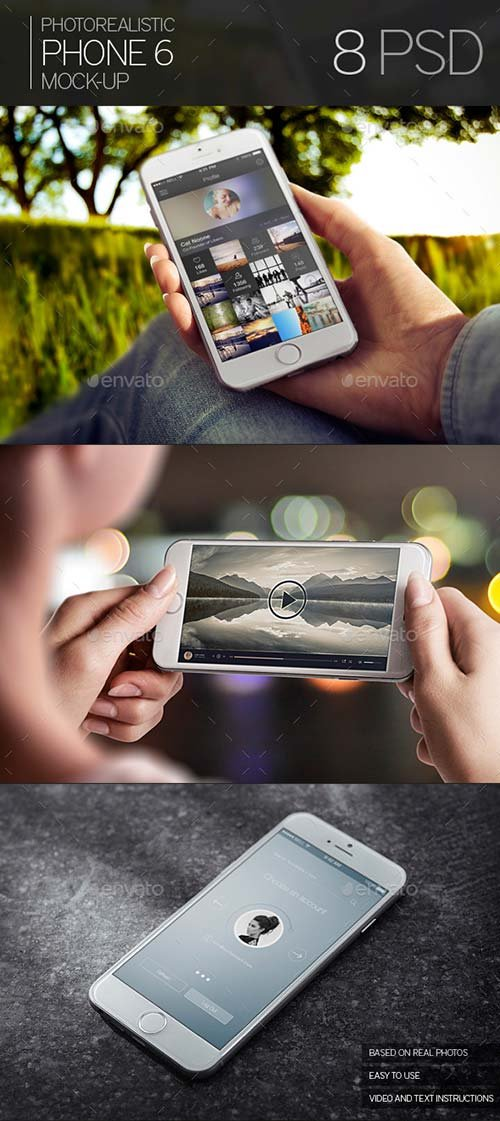 GraphicRiver Photorealistic Phone 6 Mock-Up