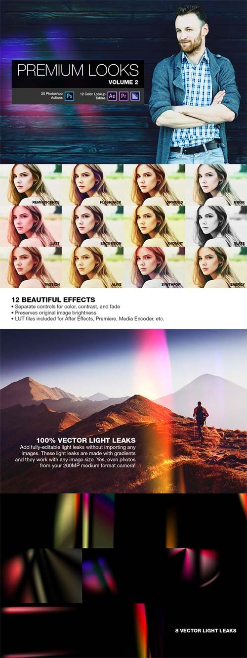 CreativeMarket Premium Looks PS Actions (Vol. 2)