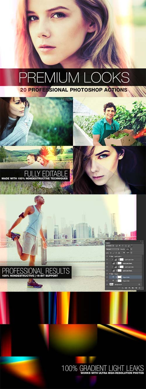 CreativeMarket Premium Looks - 20 Photoshop Actions