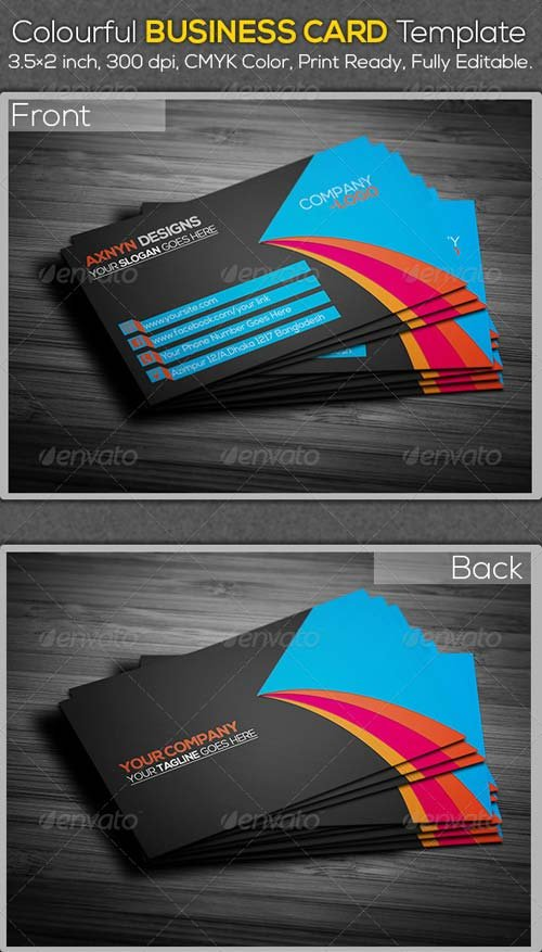 GraphicRiver Colourful Business Card Template
