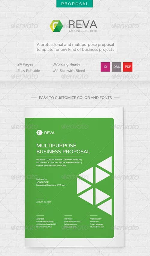GraphicRiver Reva - Multi Purpose Proposal Template