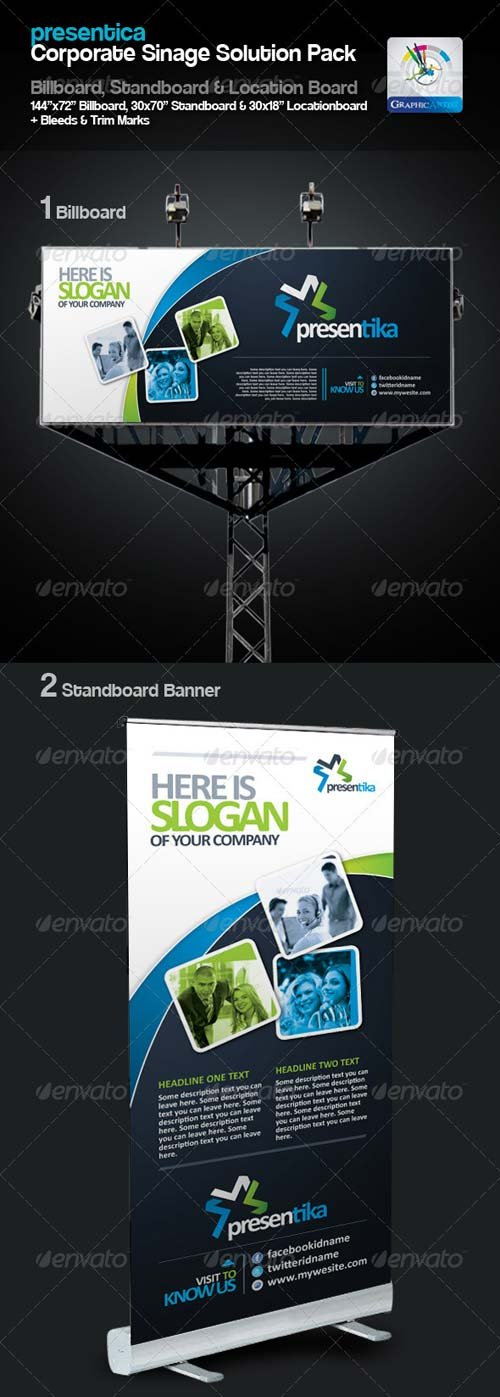 GraphicRiver Presentica Corporate Sinage Solution Pack